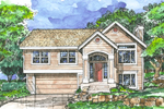 Modern House Plan Front of Home - 072D-0502 | House Plans and More