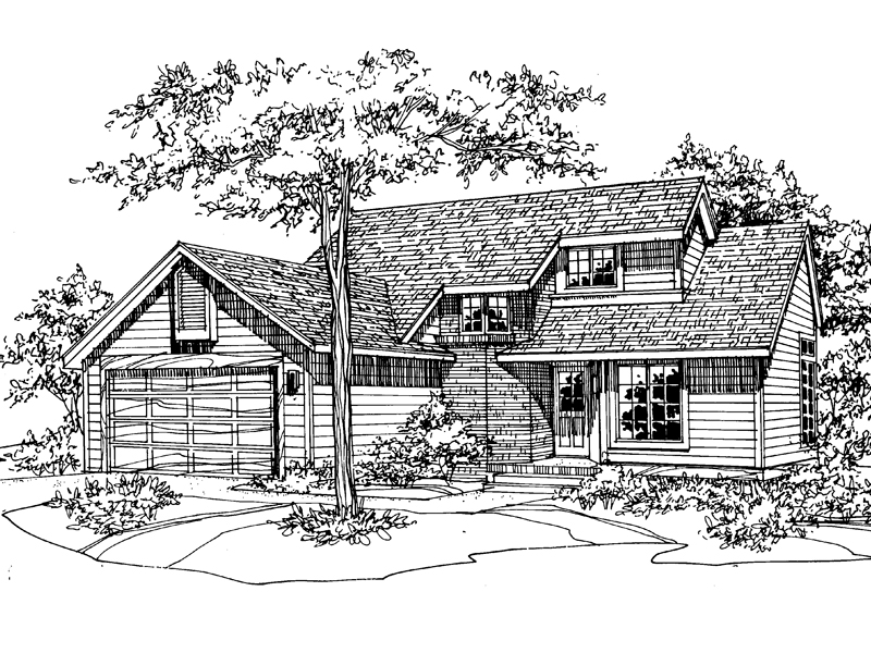Traditional House Plan Front of Home - 072D-0509 | House Plans and More