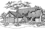 Southern House Plan Front of Home - 072D-0509 | House Plans and More