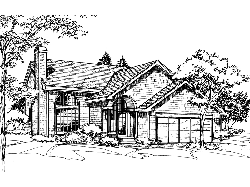 Cabin & Cottage House Plan Front of Home - 072D-0510 | House Plans and More