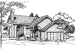 Contemporary House Plan Front of Home - 072D-0510 | House Plans and More