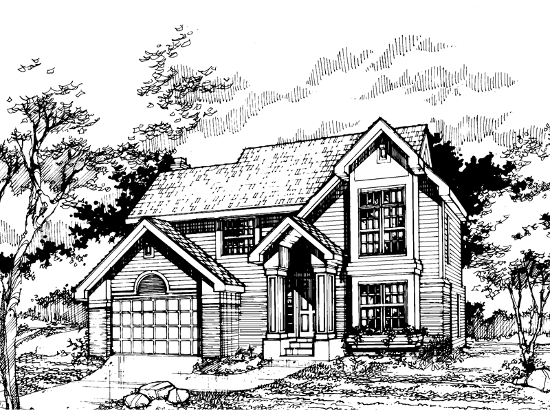 Traditional House Plan Front of Home - 072D-0511 | House Plans and More