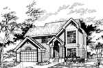 Contemporary House Plan Front of Home - 072D-0511 | House Plans and More