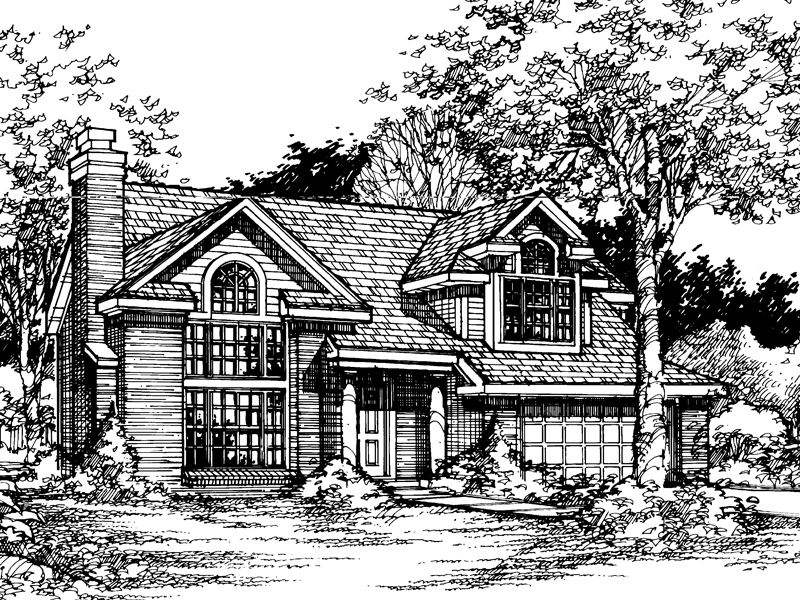 Contemporary House Plan Front of Home - 072D-0512 | House Plans and More