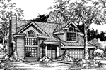 Bungalow House Plan Front of Home - 072D-0512 | House Plans and More