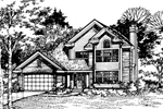Contemporary House Plan Front of Home - 072D-0513 | House Plans and More