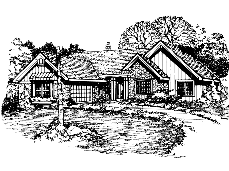 Arts & Crafts House Plan Front of Home - 072D-0514 | House Plans and More