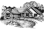 Ranch House Plan Front of Home - 072D-0514 | House Plans and More