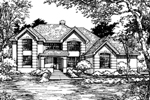 Sunbelt Home Plan Front of Home - 072D-0515 | House Plans and More