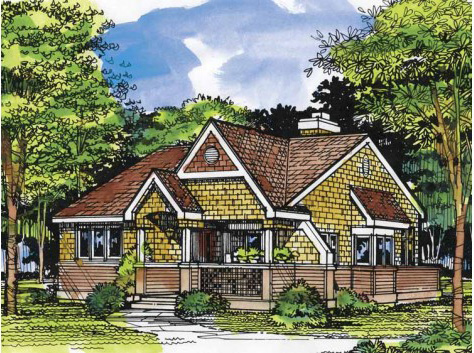 Southern House Plan Front of Home - 072D-0516 | House Plans and More