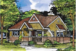 Vacation Home Plan Front of Home - 072D-0516 | House Plans and More