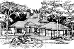 Santa Fe House Plan Front of Home - 072D-0517 | House Plans and More