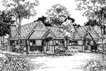 Southern House Plan Front of Home - 072D-0518 | House Plans and More