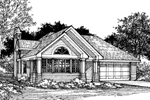 Contemporary House Plan Front of Home - 072D-0519 | House Plans and More