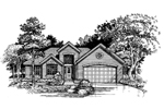 Modern House Plan Front of Home - 072D-0520 | House Plans and More