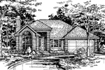 Ranch House Plan Front of Home - 072D-0521 | House Plans and More