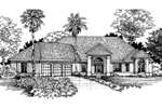Santa Fe House Plan Front of Home - 072D-0523 | House Plans and More