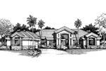 Florida House Plan Front of Home - 072D-0524 | House Plans and More