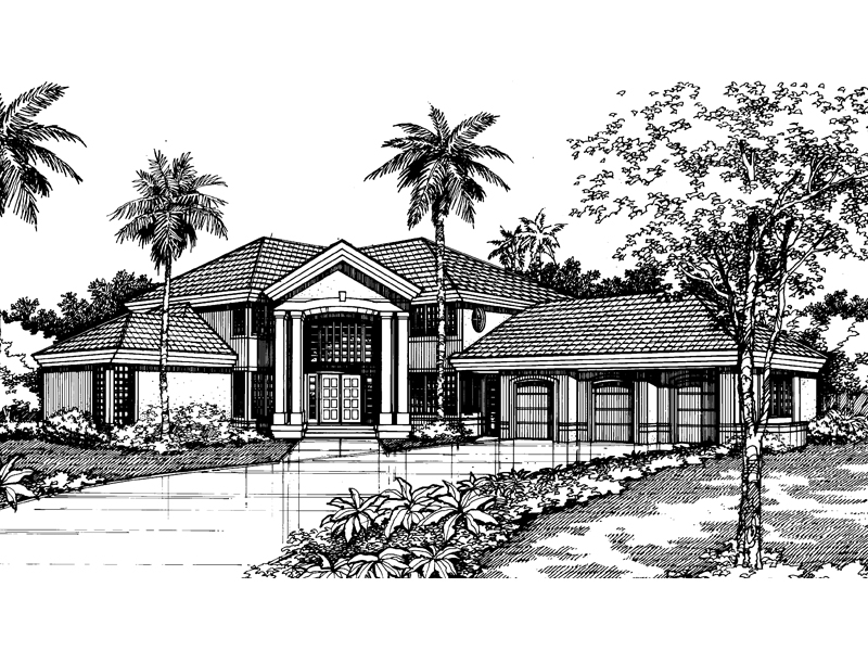 Spanish House Plan Front of Home - 072D-0526 | House Plans and More