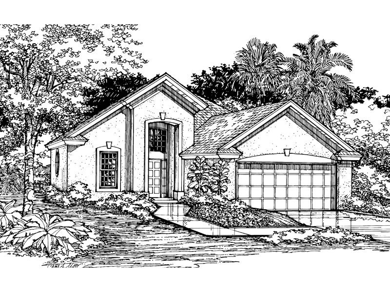 Florida House Plan Front of Home - 072D-0527 | House Plans and More