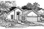 Adobe and Southwestern Plan Front of Home - 072D-0527 | House Plans and More
