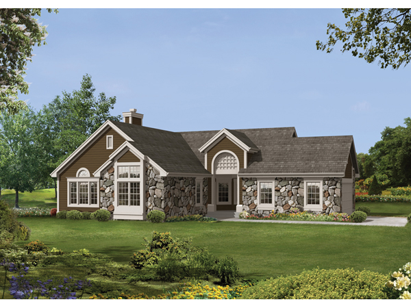 Bentbrook lake ranch home plan 072d 0529 house plans and for Ranch lake house plans