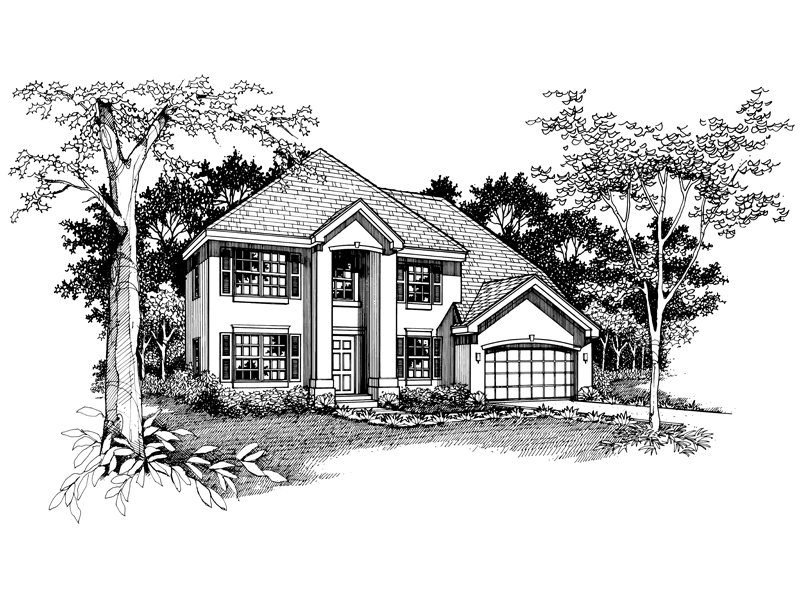 Colonial House Plan Front of Home - 072D-0537 | House Plans and More