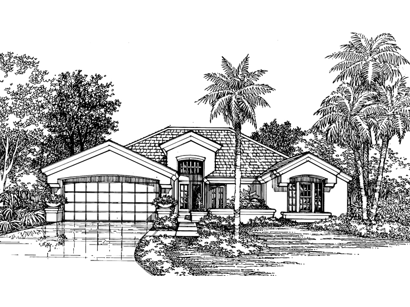 Spanish House Plan Front of Home - 072D-0553 | House Plans and More