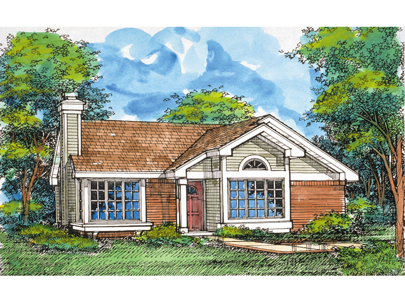 Contemporary House Plan Front of Home - 072D-0567 | House Plans and More