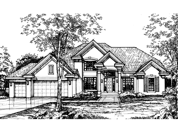 Galvin luxury sunbelt home plan 072d 0568 house plans for Sunbelt homes