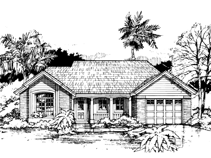Boone hill country ranch home plan 072d 0570 house plans for Hill country ranch house plans