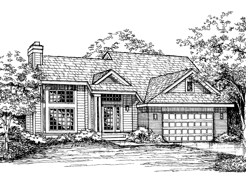 Contemporary House Plan Front of Home - 072D-0582 | House Plans and More