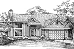 Modern House Plan Front of Home - 072D-0582 | House Plans and More