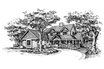 Traditional House Plan Front of Home - 072D-0584 | House Plans and More