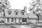 Country House Plan Front of Home - 072D-0587 | House Plans and More