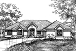 Southwestern House Plan Front of Home - 072D-0588 | House Plans and More