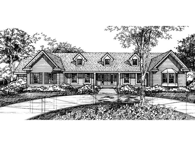 Traditional House Plan Front of Home - 072D-0589 | House Plans and More