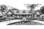 Ranch House Plan Front of Home - 072D-0589 | House Plans and More