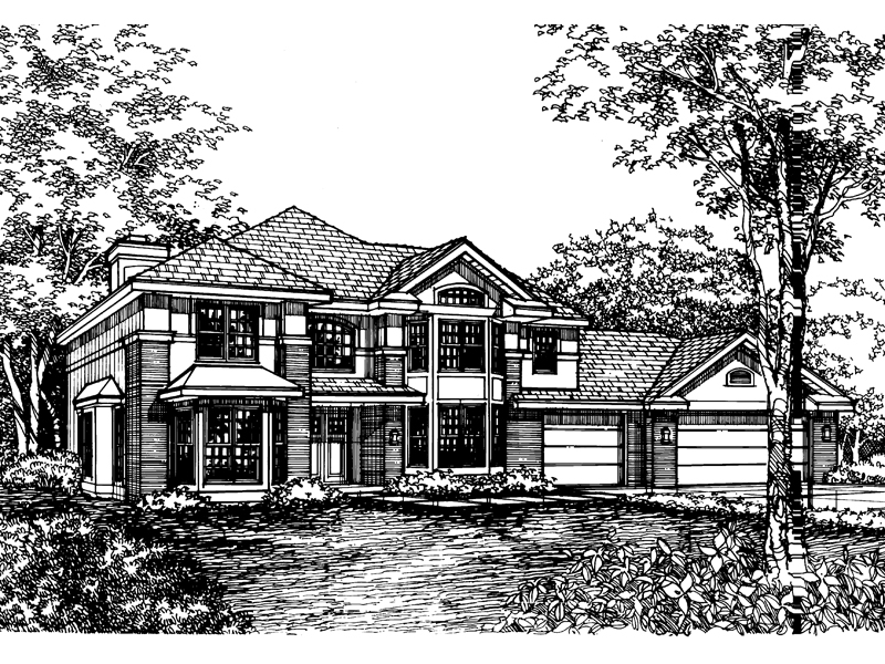 Luxury House Plan Front of Home - 072D-0591 | House Plans and More