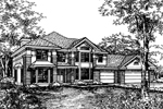 Greek Revival Home Plan Front of Home - 072D-0591 | House Plans and More