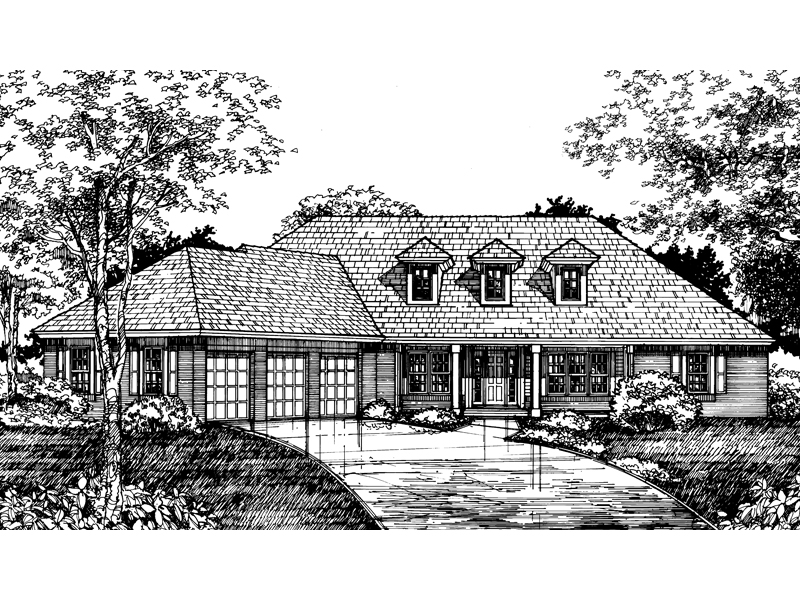 Southern House Plan Front of Home - 072D-0592 | House Plans and More