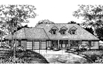 Ranch House Plan Front of Home - 072D-0592 | House Plans and More