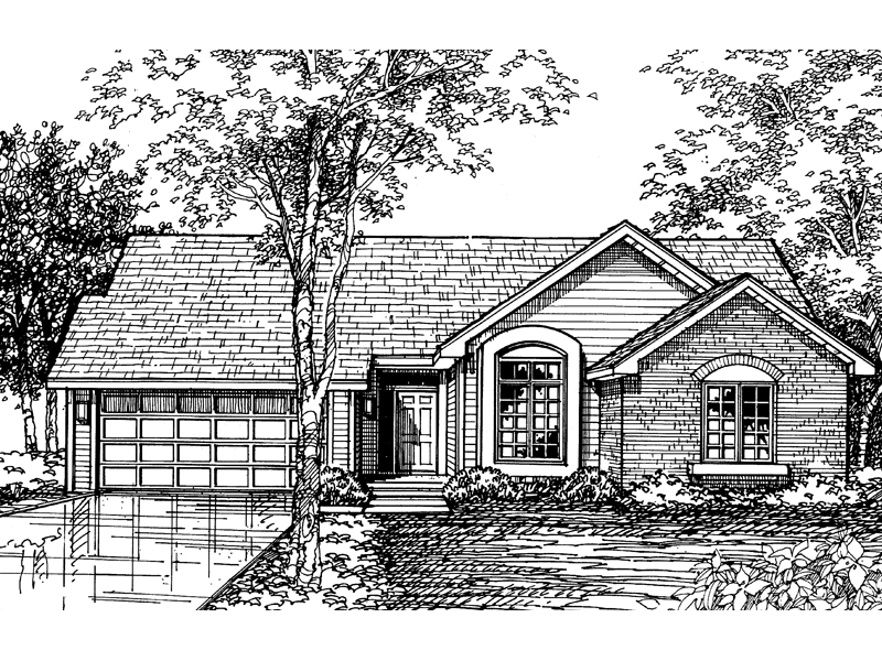 Country House Plan Front of Home - 072D-0593 | House Plans and More