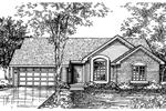 Ranch House Plan Front of Home - 072D-0593 | House Plans and More