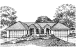 Adobe and Southwestern Plan Front of Home - 072D-0594 | House Plans and More