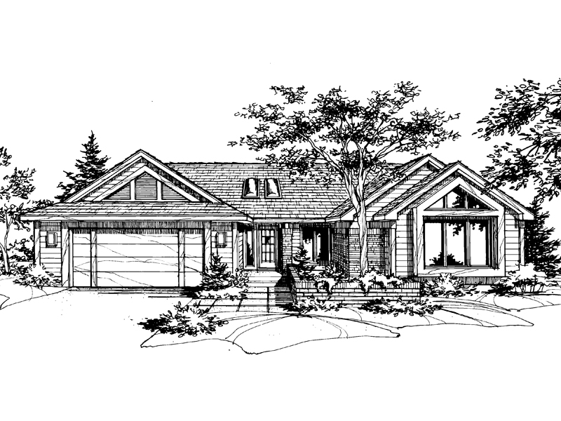 Modern House Plan Front of Home - 072D-0596 | House Plans and More