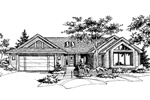 Ranch House Plan Front of Home - 072D-0596 | House Plans and More