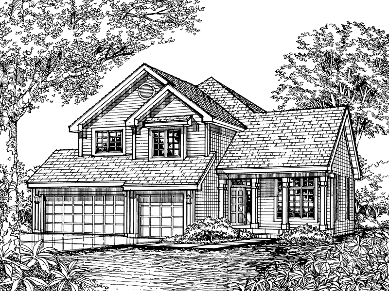 Traditional House Plan Front of Home - 072D-0598 | House Plans and More