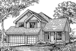 Modern House Plan Front of Home - 072D-0598 | House Plans and More