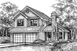 Traditional House Plan Front of Home - 072D-0599 | House Plans and More